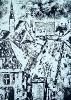 Vilniaus stogai 1992 kartono raižinys