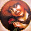 Mergaitė su rože 2013 Sold